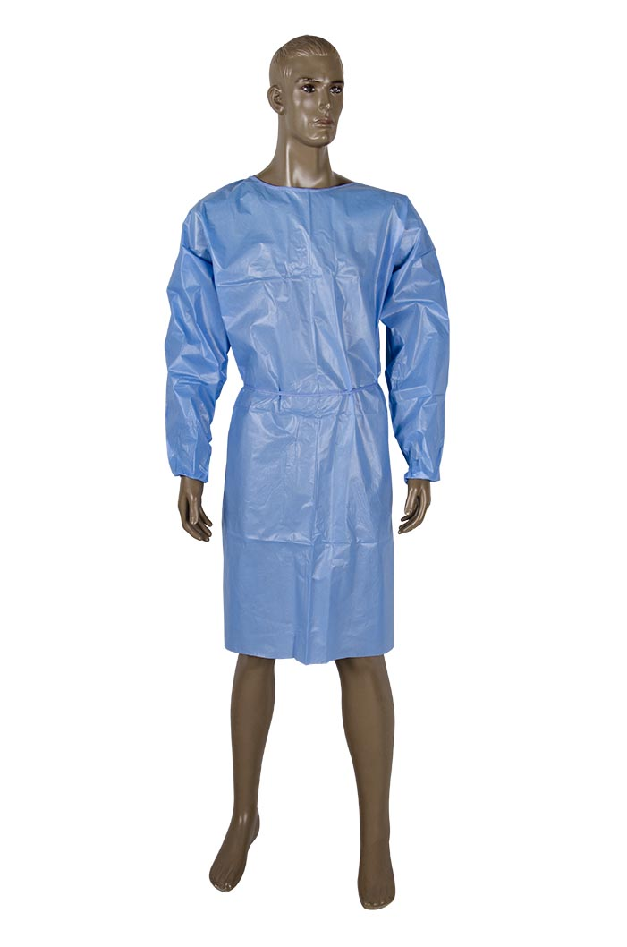 Closed back coated Isolation gown