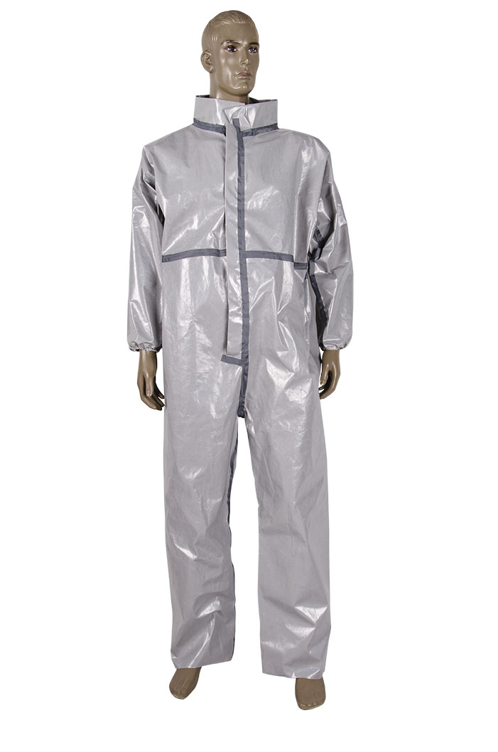 Heavy weight CHEMO Coverall with taped seams